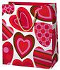 Cardex: Piros szívmintás dísztasak (11673) (Nagy)