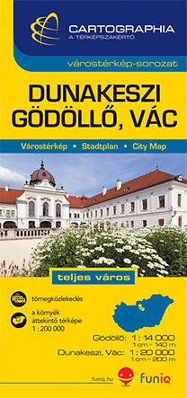 Cartographia Kiadó: Dunakeszi, Gödöllő, Vác várostérkép