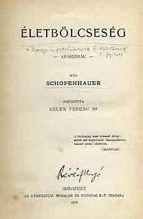 Arthur Schopenhauer: Életbölcsesség