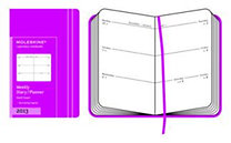 Moleskine Extra Small Dark Pink Weekly Horizontal