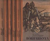 James F. Cooper: Bőrharisnya - Az utolsó mohikán - A préri - Vadölő - Nyomkereső I-V. nagy indiánkönyv 5 kötetben