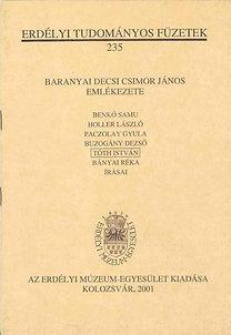Baranyai Decsi Csimor János emlékezete