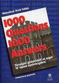 Némethné Hock Ildikó: 1000 questions 1000 answers