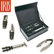 Iris: Bor kínáló szett - 4db-os, Inox