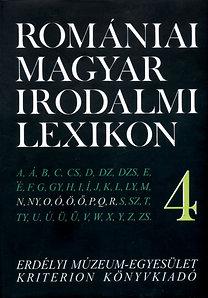 Dávid Gyula (szerk.): Romániai magyar irodalmi lexikon 4 N-R