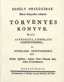 Frontius Mátyás, Érfalvi Halmágyi István: Erdély országának Három Könyvekre osztatott törvényes könyve III.
