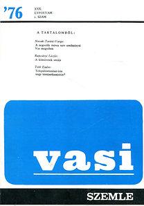 Horváth Ferenc (szerk.): Vasi szemle 1976/2.szám