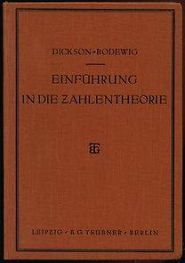 Ewald Bodewig, L.E. Dickson: Einführung in die zahlentheorie