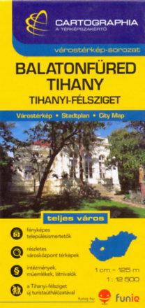 Cartographia Kiadó: Balatonfüred, Tihany várostérkép - 1:12500