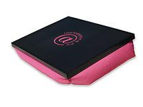 Laptoppárna @ emblémás (fekete  lap – pink textil)