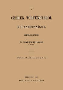 Szádeczky Lajos: A czéhek történetéről Magyarországon