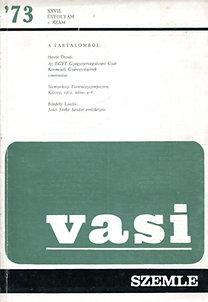Horváth Ferenc (szerk.): Vasi szemle 19731. szám
