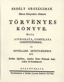 Frontius Mátyás, Érfalvi Halmágyi István: Erdély országának Három Könyvekre osztatott törvényes könyve II.