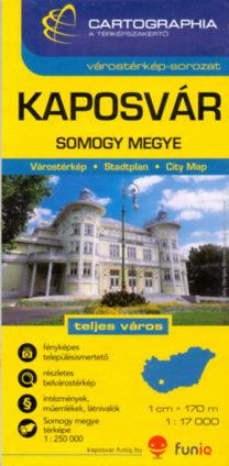 Cartographia Kiadó: Kaposvár - Somogy megye térkép - 1:17000